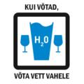 """Liviko osaleb Alkoholitootjate ja Maaletoojate Liidu algatatud vastutustundliku alkoholi tarbimise kampaanias """"Kui võtad, võta vett vahele!"""" Veekampaania_eesti_k_logo"""