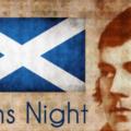 Tänään on epävirallinen Skotlannin kansallisjuhla Robert Burns illallinen. Capture